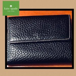Kate Spade vintage pebbled tri-folding wallet